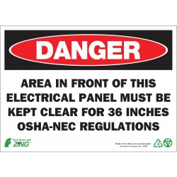 Zing Enterprises - 1089A - Electrical Hazard, Danger, Aluminum, 7 x 10, Surface