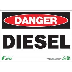 Zing Enterprises - 1092A - Chemical, Gas or Hazardous Materials, Danger, Aluminum, 7 x 10, Surface