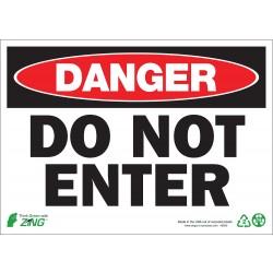 Zing Enterprises - 1093A - Exit and Entrance, Danger, Aluminum, 7 x 10, Surface