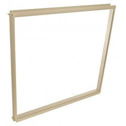 Porta-King - FGVK1-BCM - Window, 40-3/4H, 41-1/8W, Frame Beige, Glass