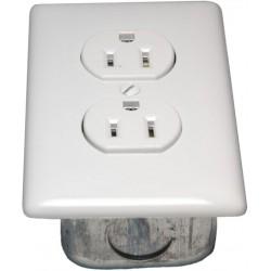 Porta-King - STD115VK-WCM - Std Duplex Outlet, No-Wire, 115V, White