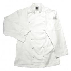 San Jamar - LJ025-2X - Long Sleeve Ladies Chef Jacket with Mandarin Collar, White, 2X