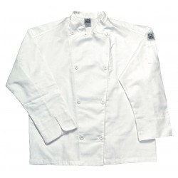 San Jamar - J002-S - Long Sleeve Men's Chef Jacket with Traditional Collar, White, S