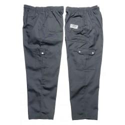 San Jamar - P024BK-5X - 34 Cargo Men's Chef Pants, Black, 5X