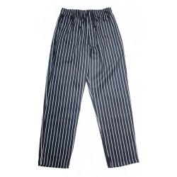 San Jamar - P040WS-3X - 34 EZ Fit Men's Chef Pants, Black/White Pin Stripe, 3X