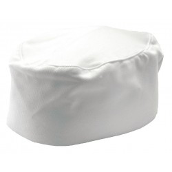San Jamar - H002-R - Pillbox Chef Hat, White, 20 to 22
