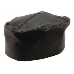 San Jamar - H008-XL - Pillbox Chef Hat, Black, 22 to 23-1/2