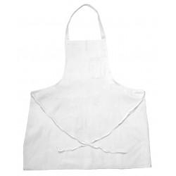 San Jamar - 600BAW - 34 x 34 Bib Apron, White, One Size Fits All