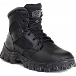 Rocky Shoes & Boots - 6167 12 M - 6H Men's Work Boots, Composite Toe Type, Leather and Nylon Mesh Upper Material, Black, Size 12M