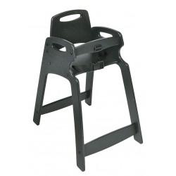 Koala Kare - KB833-02-KD - Eco High Chair, Unssbld, Black
