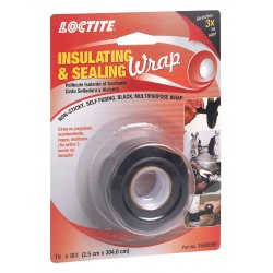 Loctite / Henkel - 1540599 - 1W Silicone Insulating and Sealing Tape, Black, 120 Length