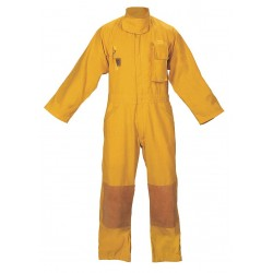Fire Dex - FS1C001L - Yellow Turnout Coverall, Nomex, L, Fits Chest Size 46, Inseam 30