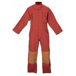 Fire Dex - FS1C00D3 - Red Turnout Coverall, Nomex, 3XL, Fits Chest Size 58, Inseam 31