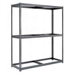 Edsal - BSRR-201 - 48 x 24 x 84 Steel Boltless Shelving Starter Unit, Gray; Number of Shelves: 3