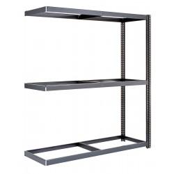 Edsal - BSRR-202 - 48 x 24 x 84 Steel Boltless Shelving Add-On Unit, Gray; Number of Shelves: 3