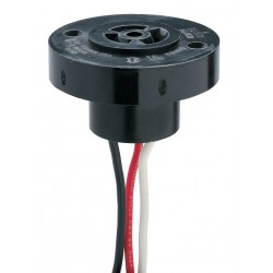 Intermatic - K121-30 - Photo Control Receptacle with Wire Leads, For Use With Intermatic Photo Controls