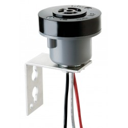 Intermatic - K122 - Photo Control Receptacle with Bracket, For Use With Intermatic Photo Controls