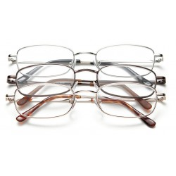 Optx 20/20 - 3PK+400M - Clear Scratch-Resistant Reading Glasses, +4.0 Diopter