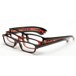 Optx 20/20 - 3PK+400 - Clear Scratch-Resistant Bifocal Reading Glasses, +4.0 Diopter