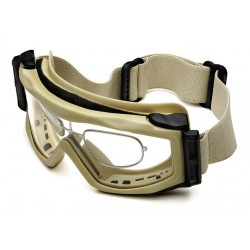 Optx 20/20 - BALTRX - Gray Anti-Fog Goggles with Prescription Inserts, Rx Diopter