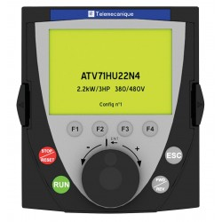 Telemecanique / Schneider Electric - VW3A1101 - LCD Graphic Keypad, For Use With Altivar 212, 312, 61, 71