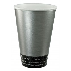 Dart Container - 16U16FS - 16 oz. Disposable Cold/Hot Cup, Expanded Polystyrene and Paper, Silver, PK 1000