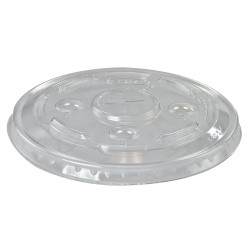 Dart Container - L24C - 16 series Crack Resistant PET Straw Slot Top Cold Cup Lid, Clear; PK1000