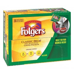 Folgers - 2550006119 - Decaffeinated Coffee, 0.90 oz., Package Quantity 36