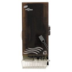 Dixie - SSFHWDSP08 - Fork Dispenser, Translucent Smoke, Height 24-1/2, Width 10, Depth 8-3/4