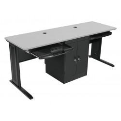 Balt / MooreCo - 90107 - Computer Workstation, 72x29x24 In, Gray