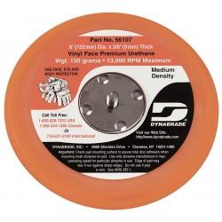 Dynabrade - 56107 - Dynabrade Sanding Disc Backing Pad - PSA Attachment - Medium Density - 6 in Diameter - Vinyl, Non-Vacuum, 3/8 in - 56107