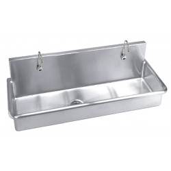 Just Manufacturing - J4820-S - Stainless Steel Scrub Sink, With Faucet, Wall Mounting Type, Stainless Steel