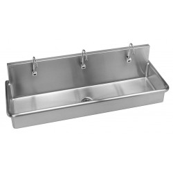 Just Manufacturing - J6020-S - Stainless Steel Scrub Sink, With Faucet, Wall Mounting Type, Stainless Steel
