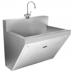 Just Manufacturing - J770-1-S - Stainless Steel Scrub Sink, With Faucet, Wall Mounting Type, Stainless Steel