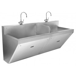 Just Manufacturing - J770-2-S - Stainless Steel Scrub Sink, With Faucet, Wall Mounting Type, Stainless Steel