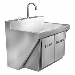Just Manufacturing - JKS770-1 - Stainless Steel Scrub Sink, With Faucet, Wall Mounting Type, Stainless Steel