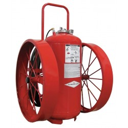 Amerex - 493 - Dry Chemical, BC Class Wheeled Fire Extinguisher with 300 lb. Capacity and 67 sec. Discharge Time