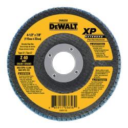Dewalt - DW8252 - Flap Disc, Dia. 4.5 In, AH 7/8 In, 80 Grit