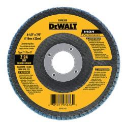 "Dewalt - DW8352 - 4-1/2"" Abrasive Flap Disc, Type 27, Zirconia Alumina, 60 Grit, 7/8"" Mounting Size, High Performance"