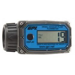 GPI - 01A31GM-U - Electronic 1 Electronic Flowmeter, Nylon, 3 to 30 gpm