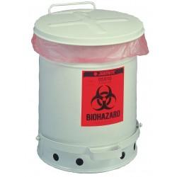 Justrite - 05915 - Biohazard Waste Container, 15-7/8 In. H