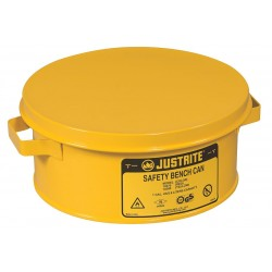 Justrite - 10385 - Bench Can, 1 Gal., Steel, Yellow