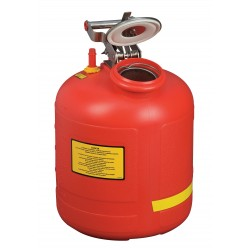 Justrite - 14565 - Justrite 5 Gallon Red HDPE Liquid Disposal Can With Stainless Steel Fill Gauge (For Flammables and Corrosives), ( Each )