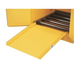 Justrite - 25932 - Justrite 28' X 24 1/2' Yellow Steel Drum Cabinet Ramp, ( Each )