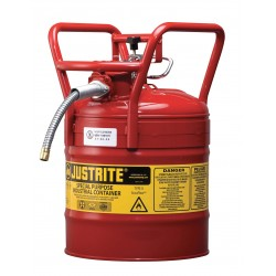 Justrite - 7350110 - Type II DOT Safety Can, Red, 17-1/2 In. H