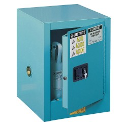 Justrite - 890422 - Justrite 4 Gallon Blue Sure-Grip EX 18 Gauge Cold Rolled Steel Countertop Safety Cabinet With (1) Self-Closing Door And (1) Adjustable Shelf (For Corrosive Acids)