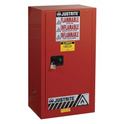 "Justrite - 891531 - 20 gal. Paint and Ink Cabinet, 44"" x 23-1/4"" x 18"", Self-Closing Door Type"