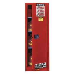 "Justrite - 892231 - 36 gal. Flammable Cabinet, 65"" x 23-1/4"" x 18"", Self-Closing Door Type"