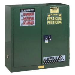 "Justrite - 893024 - Pesticide Safety Cabinet, Self-Closing Door Type, 30 gal. Capacity, 38-1/4"" Height, 43"" Width, 18"" D"