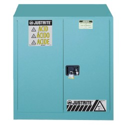 "Justrite - 893302 - 36"" x 24"" x 35"" Steel Corrosive Safety Cabinet, Blue"